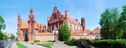 St. Anne's and Bernardinu Church in Vilnius city Stock Photos