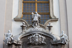 St Anne's Church in Budapest Architectural Details Royalty Free Stock Photo