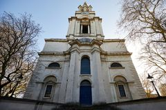 St Anne`s Church Limehouse, London. stock images
