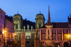 St. Anne's Church on Main Square in Mikulov. Mikulov Royalty Free Stock Images