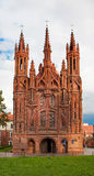 St. Anne's Church, Vilnius Stock Photo