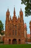 St. Anne's Church in Vilnius Royalty Free Stock Photo