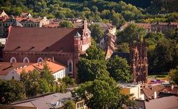 St. Anne's Church in Vilnius, Lithuania stock photos