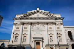 St Anne's Church, Warsaw, Poland. The view of the front facade royalty free stock photography