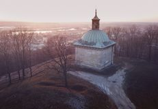 St- Anne` s Kapelle in Pinczow bei Sonnenuntergang Stockfotografie