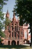 St Anne s Kerk in Vilnius Royalty-vrije Stock Foto's