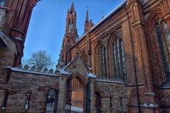 St Anne s och Bernardinu kyrka i Vilnius Royaltyfria Foton