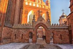 St Anne s och Bernardinu kyrka i Vilnius Royaltyfri Foto