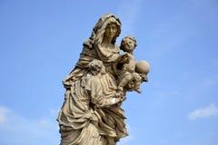 St Anne statue Stock Photos