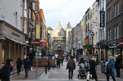 St Anne street Dublin. View of the Church of St. Ann's Dublin. Ireland Royalty Free Stock Photos
