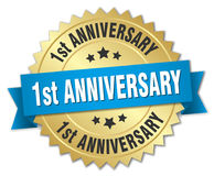 1st anniversary badge Stock Image