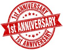 1st anniversary stamp Stock Photography