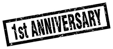 1st anniversary stamp. 1st anniversary grunge vintage stamp isolated on white background. 1st anniversary. sign Vector Illustration