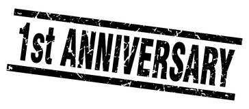1st anniversary stamp. 1st anniversary grunge vintage stamp isolated on white background. 1st anniversary. sign Royalty Free Illustration