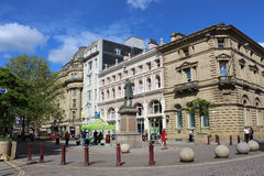 St Anns Vierkant, de stadscentrum van Manchester, Engeland Royalty-vrije Stock Foto's