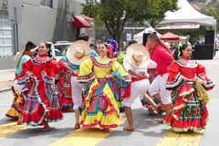 41st annual Carnaval Festival in San Francisco, California. San Francisco, CA - May 25, 2019: Unidentified participants at the 41st annual Carnaval Festival in royalty free stock photos