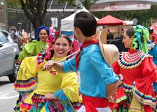 41st annual Carnaval Festival in San Francisco, California. San Francisco, CA - May 25, 2019: Unidentified participants at the 41st annual Carnaval Festival in royalty free stock images