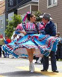 41st annual Carnaval Festival in San Francisco, California. San Francisco, CA - May 25, 2019: Unidentified participants at the 41st annual Carnaval Festival in royalty free stock photography