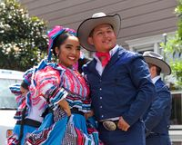 41st annual Carnaval Festival in San Francisco, California. San Francisco, CA - May 25, 2019: Unidentified participants at the 41st annual Carnaval Festival in stock photos