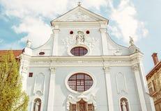 ST Anthony της εκκλησίας της Πάδοβας, Kosice, Σλοβακία, κίτρινο φίλτρο Στοκ εικόνα με δικαίωμα ελεύθερης χρήσης