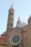 St. Anthony Basilica - A view from the square of the domes and spires -  Padua, Italy Stock Images