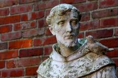 St Anthony con la colomba sulla spalla Fotografia Stock Libera da Diritti