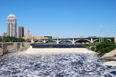 St. Anthony Falls in Minneapolis Royalty-vrije Stock Fotografie