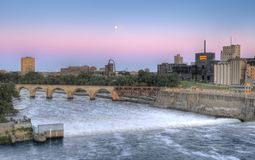 St Anthony Falls, Minneapolis, MN Stock Photography