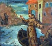 St Anthony Preaches aux poissons image libre de droits