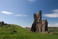 St. Anthony's Chapel Ruins, Edinburgh. The romantic ruins of St,. Anthony's Chapel in Holyrood Park, Edinburgh, built by monks and dating back to at least the Royalty Free Stock Image