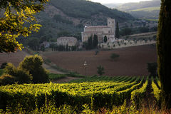 St.Antimo Abbey in Tuscany Royalty Free Stock Photography
