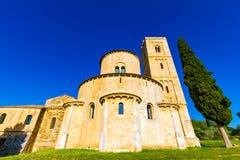 St Antimo opactwo około około 781 A d w Crete Senesi, Ja obrazy royalty free