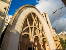 St Antoine Greek Catholic Church i Beirut, Libanon fotografering för bildbyråer
