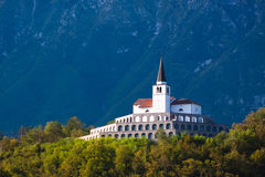 St. Anton church in Kobarid, Slovenia, Europe. Royalty Free Stock Photo