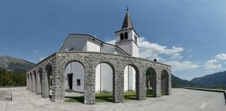 St. Anton - italian ossuary with the remains of fallen Italian soldiers from the First World War above Kobarid in Julian Alps. In Slovenia Royalty Free Stock Photo