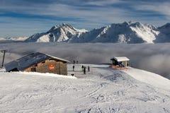 St. Anton morgens Arlberg lizenzfreies stockbild