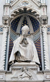 St. Antoninus Antonio Pierozzi, the Archbishop of Florence. Portal of Cattedrale di Santa Maria del Fiore Cathedral of Saint Mary of the Flower, Florence Stock Images