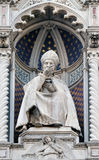 St. Antoninus Antonio Pierozzi, the Archbishop of Florence. Portal of Cattedrale di Santa Maria del Fiore Cathedral of Saint Mary of the Flower, Florence Stock Photography