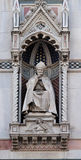St. Antoninus Antonio Pierozzi, the Archbishop of Florence. Portal of Cattedrale di Santa Maria del Fiore Cathedral of Saint Mary of the Flower, Florence Royalty Free Stock Images