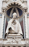 St. Antoninus Antonio Pierozzi, the Archbishop of Florence. Portal of Cattedrale di Santa Maria del Fiore Cathedral of Saint Mary of the Flower, Florence Royalty Free Stock Image