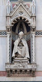 St. Antoninus Antonio Pierozzi, the Archbishop of Florence. Portal of Cattedrale di Santa Maria del Fiore Cathedral of Saint Mary of the Flower, Florence Royalty Free Stock Photo