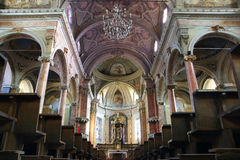 St. Antonio Abate Church interior Stock Image