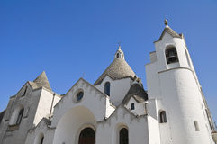 St. Antonio Trullo Church. Alberobello. Apulia. Stock Photo