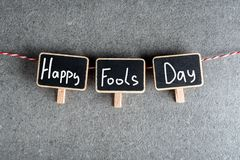 1st April - Fools day. Three tags with text.  royalty free stock image