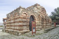 St. Archangels Michail and Gabriel Church in old Nessebar , Bulg. Aria, Europe Stock Images