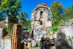 St Astvatsatsin Święta matka bóg kościół ruiny w Aghveran Zdjęcie Stock