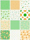 St atricks day polka dots pattern Royalty Free Stock Photo