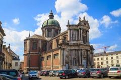 St Aubin Cathedral à Namur Photographie stock