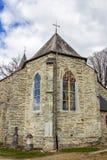 St Aubin Church i Bellevaux, Bellevaux-Ligneuville, Malmedy, Belgien royaltyfri fotografi