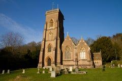 Kyrkliga västra Quantoxhead Somerset England Arkivbilder